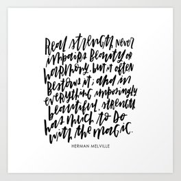 Herman Melville Quote Art Print