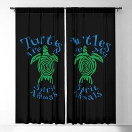 turtles are my spirit animals Blackout Curtain