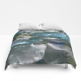 Ocean Hue Sea Glass Assortment Comforters