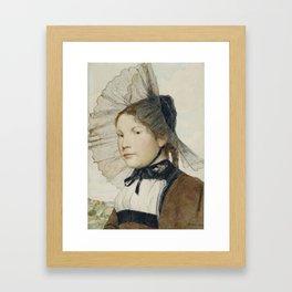 Albert Anker , Girls in Berner Tracht, 1907 Framed Art Print