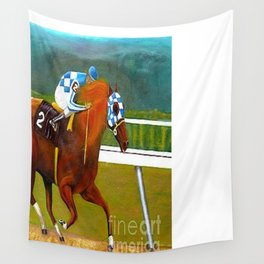 Race horse Secretariat Tripple Crown Winner Wall Tapestry