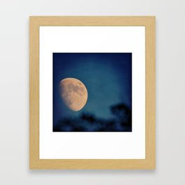 Hiker Trail Moon Framed Art Print