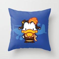 Hello Mcquackie Throw Pillow