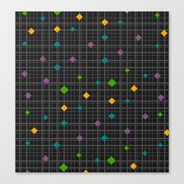 Networks with bright shapes Canvas Print