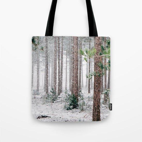 Snow #woods Tote Bag