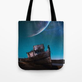A crow on a boat by GEN Z Tote Bag