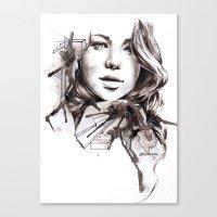 jennifer lawrence Canvas Prints featuring Jennifer Lawrence by dariemkova