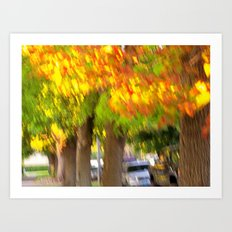 Fall is a Beautiful Blur Art Print