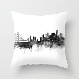 San Francisco Black and White Throw Pillow