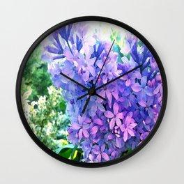 Lilacs in Bloom Wall Clock