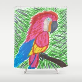 Pink Bird of Paradise Shower Curtain