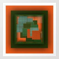 Orange Color Geometry Art Print