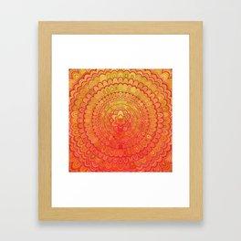 Aztec Flower Mandala Framed Art Print