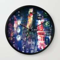 industrial Wall Clocks featuring industrial by Hamster&hearts