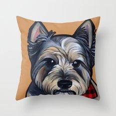 Rigoletto the cairn terrier Throw Pillow