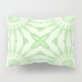 Pastel Green Pinwheel Flowers Pillow Sham