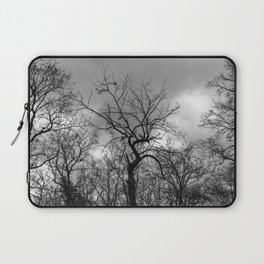 Witchy black and white tree Laptop Sleeve
