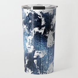 Blue sapphire and opal marbled abstract Travel Mug