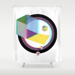 3D Cube Shower Curtain
