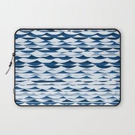 Glitch Waves - Classic Blue Laptop Sleeve