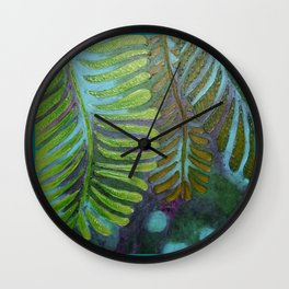 Three Leaves Wall Clock