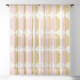 Zola Hexagon Pattern - Sunrise Sheer Curtain