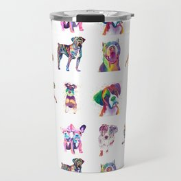 Rainbow Dogs Everywhere Travel Mug