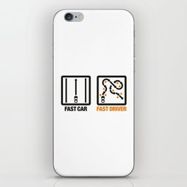 Fast Car - Fast Driver v1 HQvector iPhone Skin