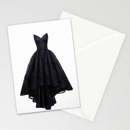 little black dress fashion illustration Stationery Cards