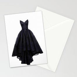 little black dress fashion illustration Stationery Cards