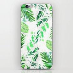 Leaf tropical pattern iPhone & iPod Skin