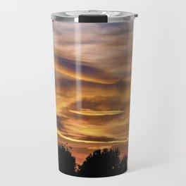 SUNSET MEDITATION #001 BY CAMA ART Travel Mug
