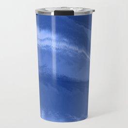Water wave blue Travel Mug