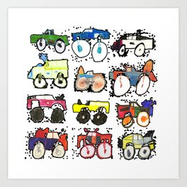 Monster Truck Kid Art by Tucker Art Print
