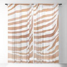 Copper Zebra Pattern Sheer Curtain