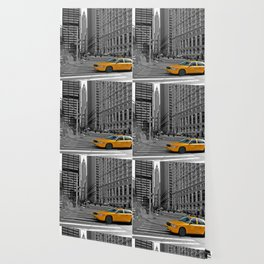 NYC - Yellow Cabs - Trinity Place Wallpaper