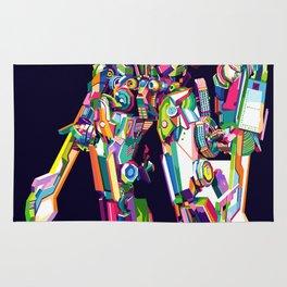 Transformer in pop art Rug