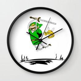 adventure times zelda Wall Clock