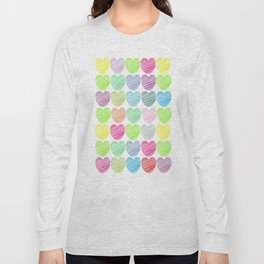 neon hearts  Long Sleeve T-shirt