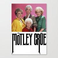 golden girls Canvas Prints featuring Golden Girls! Girls! Girls! by hellosailortees