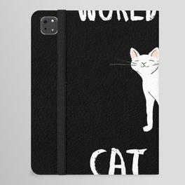 World's Best Cat Mom Cute Animal Typography Art iPad Folio Case