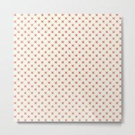 simple red star pattern Metal Print