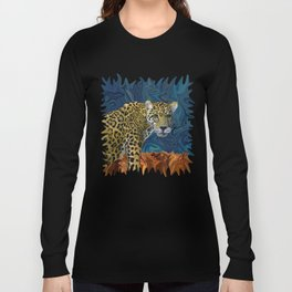 Leopard with the Sky in His Eyes Long Sleeve T-shirt