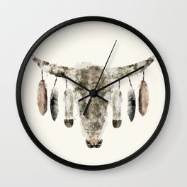 Cow Skull Wall Clock