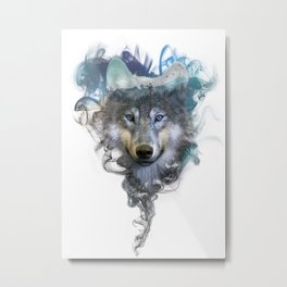 Wolf - Spirit Animal Metal Print