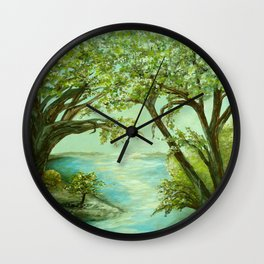 View from the River Bank Wall Clock