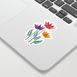 Retro tulips Sticker