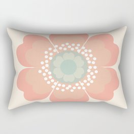 Good Look - 70s retro vibes floral flower power 1970's colorful retro vintage style Rectangular Pillow