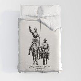 Don Quixote, Sancho Panza-Cervantes-Spain-Literature Duvet Cover