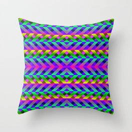 Rainbow Scaffolding Throw Pillow